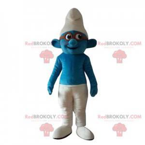 Mascote Smurf com óculos - Redbrokoly.com