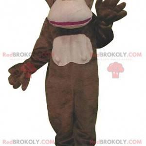 Mascota mono marrón muy divertida - Redbrokoly.com