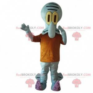 Maskot Carlo Tentacle s oranžovým tričkem, SpongeBob