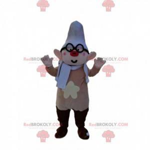 Maskot skřítek s červeným nosem a brýlemi - Redbrokoly.com
