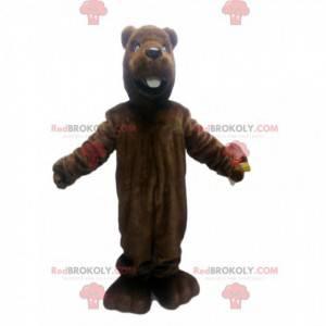 Mascote do castor marrom. Fantasia de castor marrom -