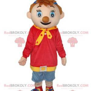Noddy mascot, the nice little boy - Redbrokoly.com