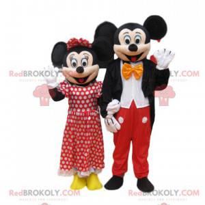 Mickey Mouse og Minnie Mascot Duo - Redbrokoly.com
