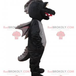 Black dragon mascot with wings - Redbrokoly.com