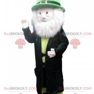 Leprechaun mascot with a beautiful white beard - Redbrokoly.com