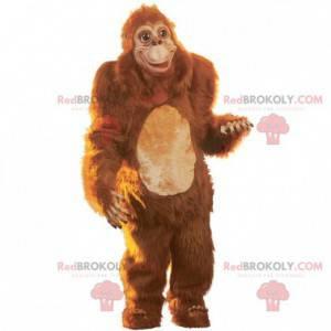 Maskot opice hnědé gorily všechny chlupaté - Redbrokoly.com
