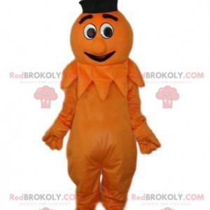 Maskot komiks oranžový sněhulák - Redbrokoly.com