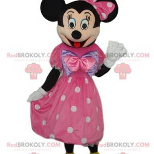 Mascotte Minnie met een elegante roze jurk - Redbrokoly.com