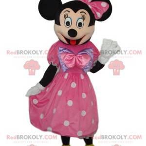 Minnie maskot med en elegant lyserød kjole - Redbrokoly.com