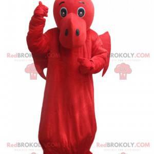Maskot červený drak s křídly. Dračí kostým - Redbrokoly.com