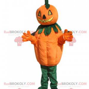 Mascotte di zucca con una testa minacciosa - Redbrokoly.com