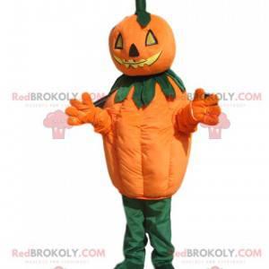Pumpkin mascot with a threatening head - Redbrokoly.com