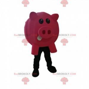 Fuchsia pig mascot - Redbrokoly.com