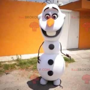 White and black snowman mascot - Redbrokoly.com