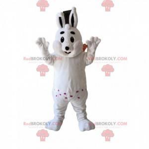 Maskottchen pralles weißes Kaninchen. Weißes Kaninchenkostüm -