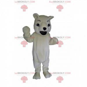 Řvoucí maskot ledního medvěda. Kostým ledního medvěda -