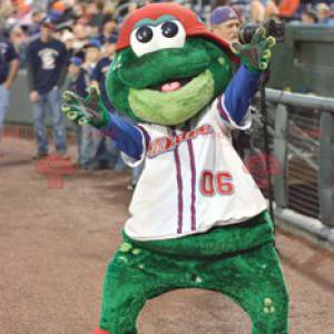 Usměvavý a zábavný maskot žába - Redbrokoly.com