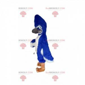 Flammendes Maskottchen des blauen Adlers. Adler Kostüm -