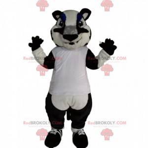 Czarno-biały tygrys maskotka - Redbrokoly.com