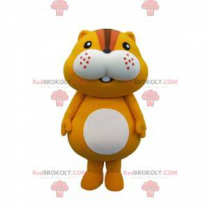 Kleine hamster mascotte rondom en schattig - Redbrokoly.com