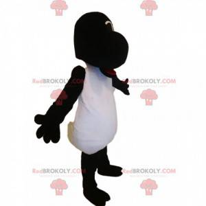 Grappige zwart-witte schapenmascotte - Redbrokoly.com