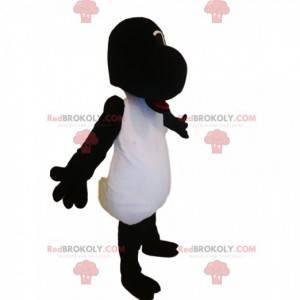 Mascotte divertente delle pecore in bianco e nero -