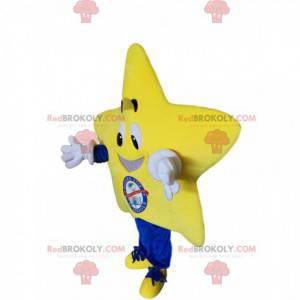 Velmi usměvavý maskot žluté hvězdy - Redbrokoly.com