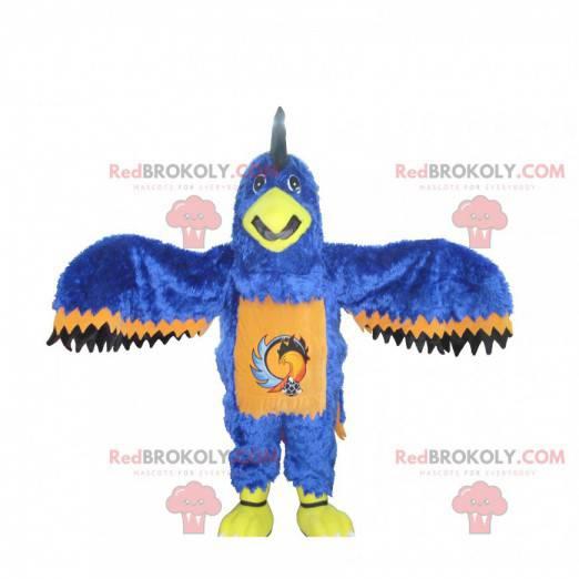 Blå oransje og svart ørnemaskot - Redbrokoly.com