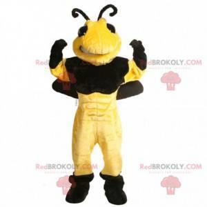 Black and yellow wasp bee mascot - Redbrokoly.com