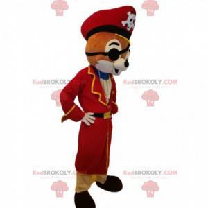 Eekhoornmascotte met een piratenuitrusting - Redbrokoly.com
