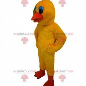 Mascotte anatra gialla con occhi commoventi - Redbrokoly.com