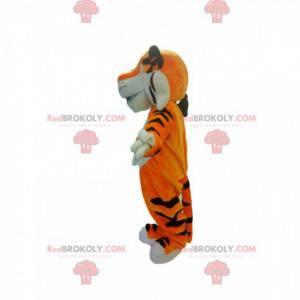 Veldig utadvendt oransje tigermaskot - Redbrokoly.com