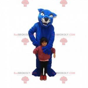 Maskottchen des blauen und schwarzen Tigers. Tigerkostüm -