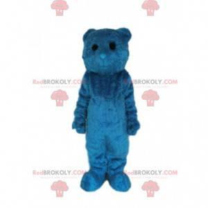 Modrý medvěd maskot s černýma očima - Redbrokoly.com