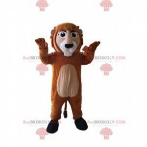 Brown and beige lion mascot. Lion costume - Redbrokoly.com