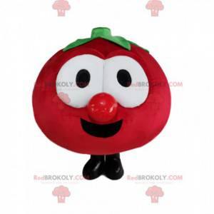 Mascota de tomate rojo muy alegre - Redbrokoly.com