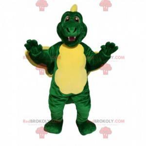 Zabawny zielony i żółty smok maskotka - Redbrokoly.com