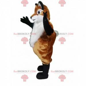 Mascote raposa marrom e branca - Redbrokoly.com