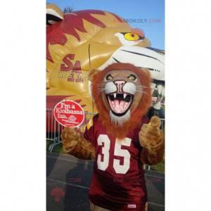 Very realistic brown and orange lion mascot - Redbrokoly.com