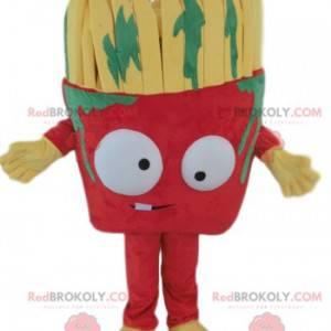 Červený štětec maskot se zelenou barvou skvrny - Redbrokoly.com