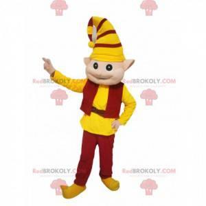 Skřítek maskot s žluté a červené oblečení - Redbrokoly.com