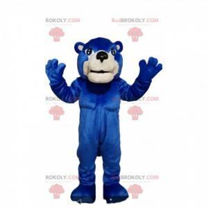 Blue bear mascot. Blue bear costume - Redbrokoly.com