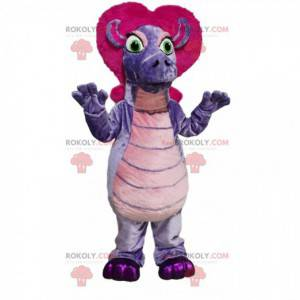 Maskot fialového pásku s fuchsiovými vlasy - Redbrokoly.com