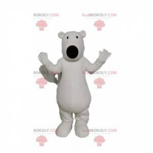 Maskot ledního medvěda s velkou černou tlamou - Redbrokoly.com