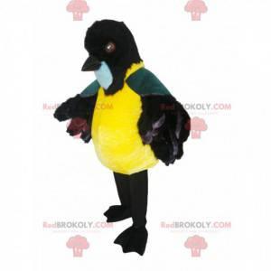 Maskot podsadité sýkorky s pěkným černým zobákem -