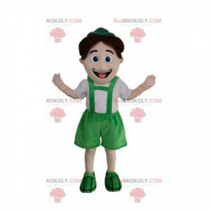 Little boy mascot in Tyrolean outfit - Redbrokoly.com