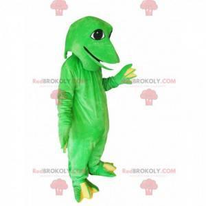 Zábavné maskot zelená žába - Redbrokoly.com