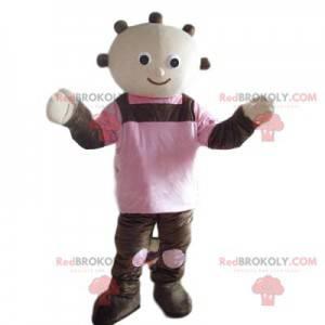 Fun snowman mascot with quilts - Redbrokoly.com