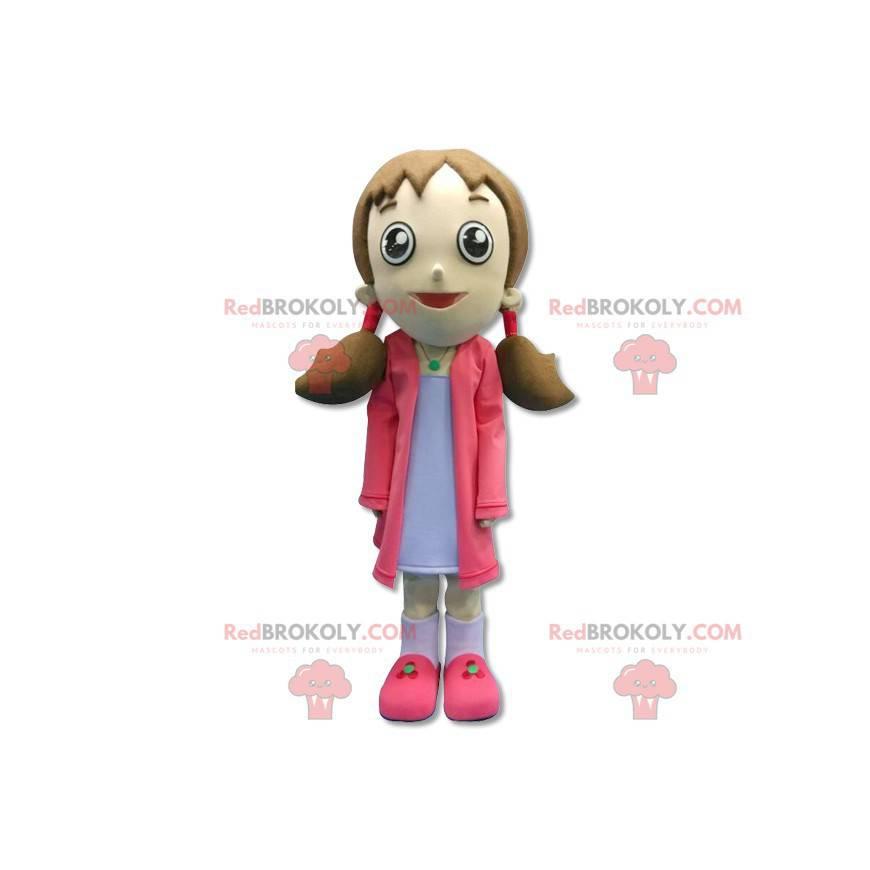 Maskot dívka s přikrývkami - Redbrokoly.com