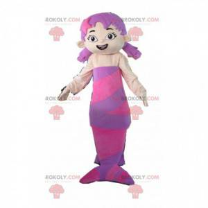 Fioletowa syrenka maskotka z dwoma kołdrami - Redbrokoly.com